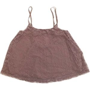 3/$15☘️ NWOT Frenchi Pink Lace Crop Top